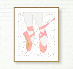 Ballerina Nursery, Girls Room, Glitter, Pastel Decor, Pointe Shoes