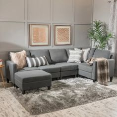 Shop for Zahra Fabric Sofa Sectional with Storage Ottoman by Christopher Knight Home. Get free delivery On EVERYTHING* Overstock - Your Online Furniture Shop! Get in rewards with Club O! Sectional Ottoman, U Shaped Sectional, Fabric Sectional, Sofa Couch, Corner Sectional, Sofa Set, Sectional Furniture, Grey Sectional, Sleeper Sectional