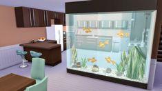 """Corporation """"SimsStroy"""": The Sims 4. Partition aquarium decor."""