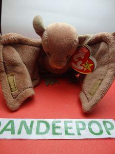 "TY Beanie Babie 1996 Batty Bat Stuffed animal toy Original w/ tags 5x5"" find me at www.dandeepop.com"
