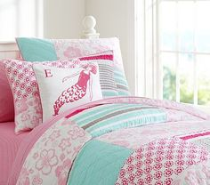 Surf Patch Quilted Bedding #pbkids