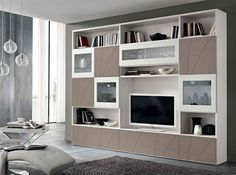 Modern Wall Unit Lapis LP02 by SPAR, Italy - $4,325.00