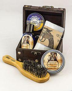 GUNN METAL Original 2oz beard Oil Kit IN FRESH CUT LUMBER With Decorative Valet