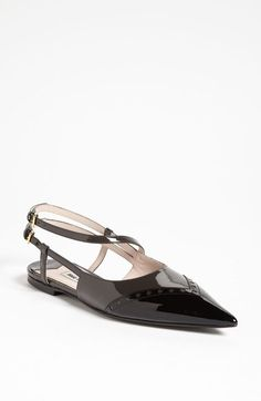Miu Miu Pointed Toe Ballet Flat (Nordstrom Exclusive) available at #Nordstrom