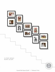 Sioux Falls Photographer                                                                                                                                                                                 More Stairway Picture Wall, Stairway Pictures, Gallery Wall Staircase, Hallway Pictures, Hang Pictures, Wall Photos, Stair Walls, Staircase Wall Decor, Staircase Design