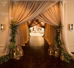 Looking for latest Outdoor Wedding Decorations? Check out the trending images of the best Indian Outdoor Wedding Decoration ideas. Wedding Reception Entrance, Wedding Ceremony, Reception Ideas, Outdoor Ceremony, Wedding Draping, Tent Reception, Wedding Walkway, Marriage Reception, Wedding Reception Decorations Elegant