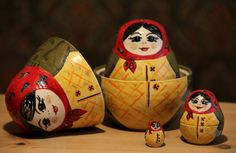 Ceramic Russian Dolls by Emily Cabot