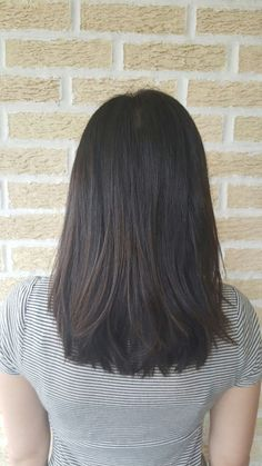 Magnificent Medium length haircut & hairstyle // cut | style | lob | long bob | straight | side swept bang | layers | layered | smoothing iron | flat iron | brunette | brown | haircolor | ..
