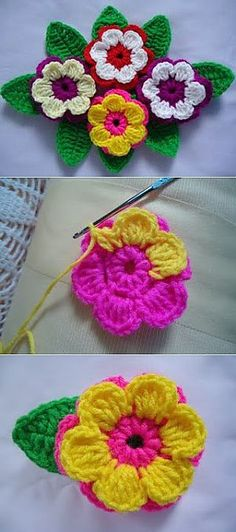 Multi Petals Crochet Flower - This is cozy crochet flower with the pattern and tutorial! You will love these flowers because they can give a cute and exciting feeling to any crochet project you'll start to do! These flowers are really easy to crochet. Beau Crochet, Crochet Puff Flower, Crochet Flower Tutorial, Crochet Flower Patterns, Love Crochet, Beautiful Crochet, Crochet Designs, Crochet Flowers, Knitting Patterns