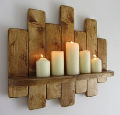 50 cm Rustic reclaimed pallet wood floating shelf by TimberWizards