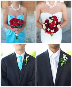 Turquoise and Red Wedding... Wedding ideas for brides, grooms, parents & planners ... https://itunes.apple.com/us/app/the-gold-wedding-planner/id498112599?ls=1=8 … plus how to organise an entire wedding ♥ The Gold Wedding Planner iPhone App ♥ http://pinterest.com/groomsandbrides/boards/