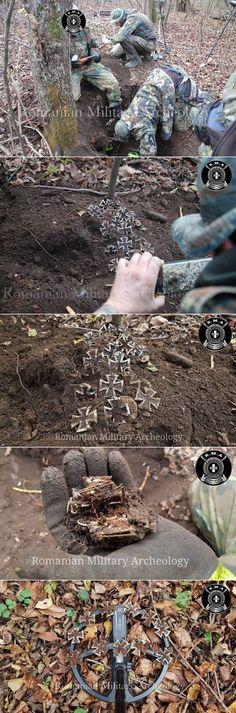 В Румынии камрада подняли клад из 170 Железных Крестов и другие награды