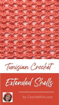 English Name: Tunisian Crochet Extended Shells Symbol Chart Level of Curling: Light to no curling. More information on the natural curling of Tunisian crochet. Special Stitches: Tunisian Extended Stitch (tes): When used at the beginning Crochet Stitches For Blankets, Crochet Stitches Free, Tunisian Crochet Patterns, Knitting Patterns, Knitting Tutorials, Crochet Granny, Lace Knitting, Diy Crochet Projects, Crochet Videos