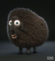 Cute sheep animation creation by Fellipe Beckman 3d Model Character, Character Modeling, Game Character, Character Concept, Concept Art, Funny Sheep, Cute Sheep, Cute Monsters Drawings, Sheep Illustration