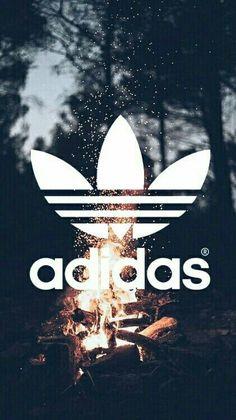 Fundo da Adidas de fogueira