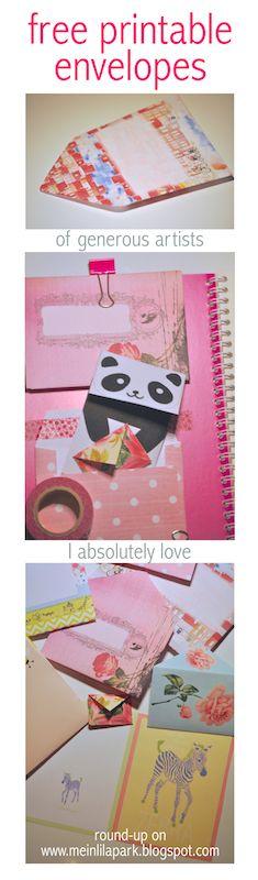 10+ FREE printable DIY envelopes   round-up of adorable freebie envelopes