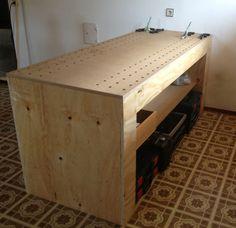 aus paletten ein regal f r die werkstatt oder garage bauen praktisch pinterest garage. Black Bedroom Furniture Sets. Home Design Ideas