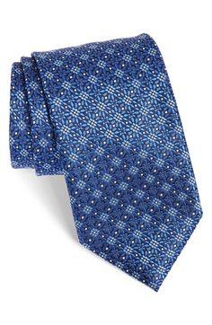 Men's Canali Floral Silk Tie