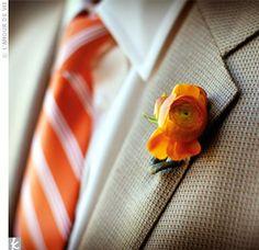 orange boutonniere - Google Search