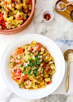 WHITE BEAN RATATOUILLE (sub eggplant for more zucchini/squash)