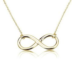 Infinity Pendant 18k Gold Infinity Necklace 16 Inches -- Check this awesome product by going to the link at the image.Note:It is affiliate link to Amazon.