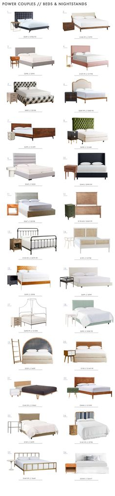 Power Couples: Beds And Nightstands   Emily Henderson