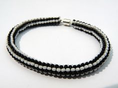 Tubular Peyote Bracelet by BeadazzledHeaven on Etsy, $7.99