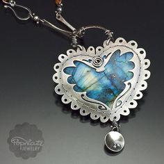 Handmade Blue Birds SIlver Tree of Life Pendant on Leather Necklace popnicute on ArtFire Heart Jewelry, Metal Jewelry, Pendant Jewelry, Jewelry Art, Jewelry Design, Pendant Necklace, Fine Jewelry, Onyx Necklace, Body Jewelry