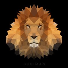 Low Poly Lion on Behance