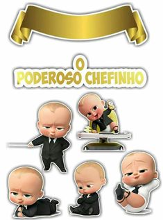 Resultado de imagem para topper poderoso chefinho Boss Birthday, Boys First Birthday Party Ideas, Boy Birthday Parties, Themed Parties, Baby Movie, Friend Cartoon, Baby Invitations, Boss Baby, Baby Party
