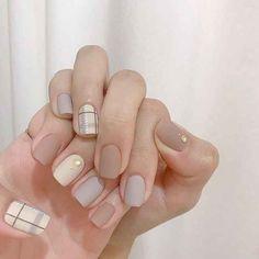The Most Beautiful and Glamorous Acrylic Nail Art Designs in Summer nails Korean Nail Art, Korean Nails, Asian Nail Art, Nude Nails, Pink Nails, Matte Nails, Blue Nail, Hair And Nails, My Nails