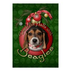 Beagles Digital Art - Christmas - Deck The Halls With Beagles by Renae Laughner Christmas Time, Christmas Ornaments, Merry Christmas, Hall Design, Beagle Puppy, Deck The Halls, Dog Portraits, Custom Posters, Custom Framing