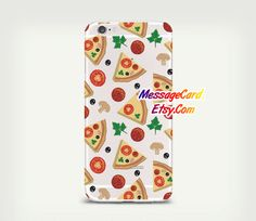 Pizza Clear Phone Case Cover  Crystal Clear iPhone by MessageCard