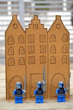cardboard castle for minifigs