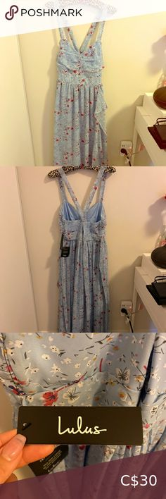 Brand New Lulus floral maxi dress size L Brand new perfect condition size L Great for a special occasion Lulu's Dresses Maxi