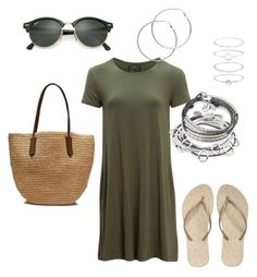 """""""Summer"""" by cgraham1 on Polyvore featuring United by Blue, Reef, J.Crew, Lizzy James, Melissa Odabash, Accessorize and Ray-Ban"""