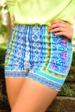Looking For Stars Shorts: Blue/Multi   Hope's