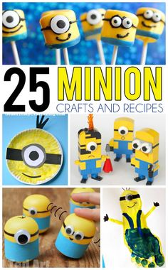 25 Minion Crafts and Recipes For Kids
