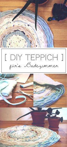 Upcycling Idee aus alten T-shirts: DIY Teppich für's Badezimmer selbermachen. Die Anleitung dafür findet ihr auf hejhurra.de