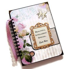 This shabby roses journal book will make beautiful gift for a close friend to write important notes and thoughts of her everyday life in a diary made especially for her. The shabby elegant design and the beautiful pastel colors make the notebook suitable for a sweet teenage girl or for a romantic young lady. This custom journal book was made to order. I will make an unique for you with similar design, similar colors and embellishments.  Surprise your close friend or relative with a beautiful…