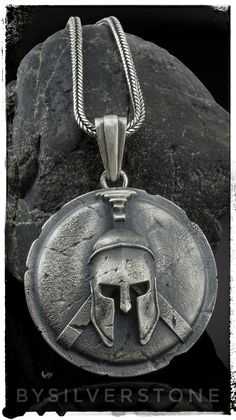 An exclusive male silver necklace to lift your style in the clouds. This Spartan helmet medallion wi Spartan Shield, Spartan Helmet, Spartan Warrior, Earring Trends, Jewelry Trends, Warrior Helmet, Greek Warrior, Silver Gifts, Summer Jewelry