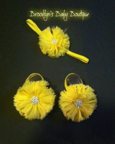 $9.99 https://www.etsy.com/listing/183663973/yellow-baby-barefoot-sandals-and? Yellow Baby Barefoot Sandals and Headband Set, Baby Easter Dress Accessories, Shabby Chic Newborn Photos, Infant Photography Props, Unique Baby Gift, Baby Girl Accessories