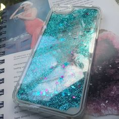 ✨New✨Glitter iPhone 6 Case☄ ⭐️Adorably cute liquid Glitter & Star Phone Case✨Blue Glitter with both pink -and blue stars✨Available for iPhone 6/6s☄ Accessories Phone Cases