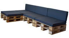 Sofa exterior con chaise longue, con palets y cojines para zonas techadas.Puedes adquirir este confortable Sofa Chaise Longue, al mejor precio en nuestra tienda.Marca: Crea CollectionCompuesto por:8 P