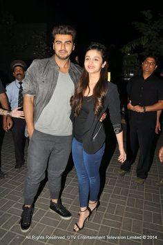 Arjun Kapoor& Alia Bhatt at the Promotion of Hindi movie States' in Thane