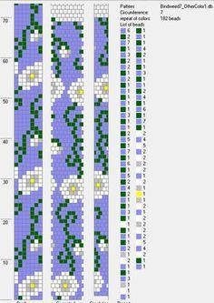 Nazo Design - Nazo Tasarım: Crochet bead ropes schemes - Hapishane işi boncuk diziliş şemaları Crochet Bracelet Pattern, Crochet Beaded Bracelets, Beaded Necklace Patterns, Bead Crochet Patterns, Bead Crochet Rope, Peyote Patterns, Loom Patterns, Bracelet Patterns, Beading Patterns