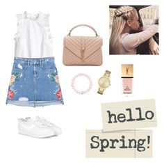 Hello Spring! by renistyle on Polyvore featuring polyvore, MANGO, NIKE, Yves Saint Laurent, Kate Spade, Thomas Sabo, fashion, style and clothing