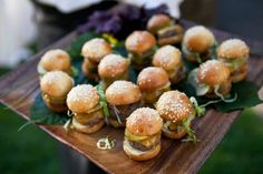 Delicious sliders make great hors d'oeuvres for a wedding cocktail hour! Yum! {Bound By | Amelia Strauss}