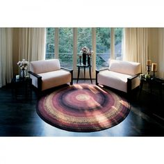 Homespice Decor Cotton Braided Plumberry Oval Rug - Plumberry