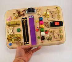 Giocattoli di legno giocattoli Montessori sensoriale Consiglio | Etsy